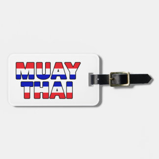 Muay Thai Luggage Tag