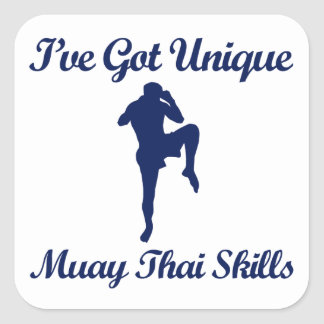 muay thai martial art designs square sticker