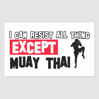 muay thai mrtial design sticker