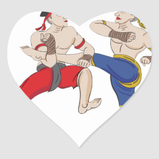 Muay Thai over everything Heart Sticker