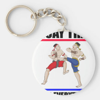 Muay Thai over everything Keychain