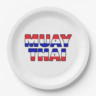 Muay Thai Paper Plate