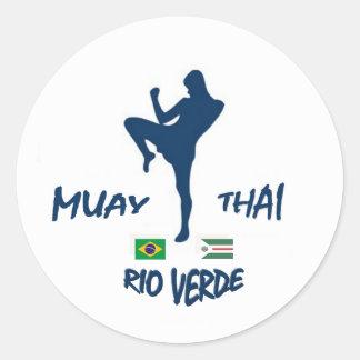 MUAY THAI RIO VERDE CLASSIC ROUND STICKER