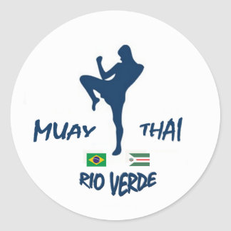 MUAY THAI RIO VERDE ROUND STICKER