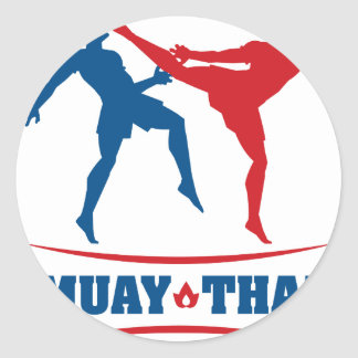 Muay Thai Round Sticker