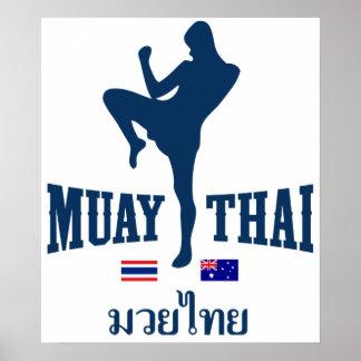 Muay Thai Thailand Australia Poster