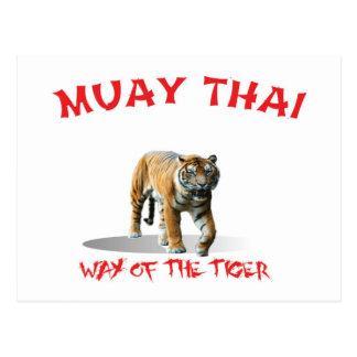 Muay Thai Way of The Tiger Postcard