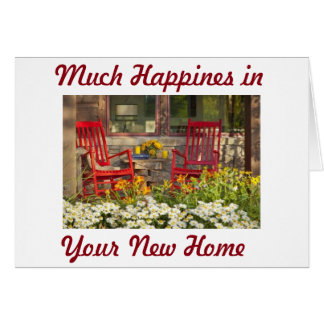 "MUCH HAPPINESS IN ""YOUR NEW HOME"" GREETING CARD"