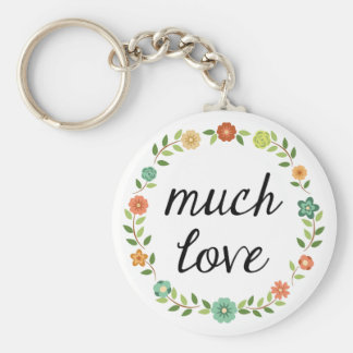 Much Love Party Favor Keychain
