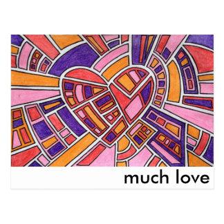 """""""much love"""" postcard"""
