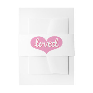Much loved -Belly band Invitations/ Stationery Invitation Belly Band