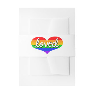 Much loved - Belly band Invitations/ Stationery Invitation Belly Band