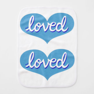 Much loved -  Burp cloth