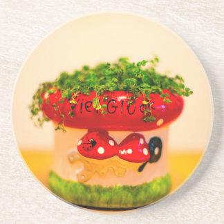 Much luck flower pot coaster