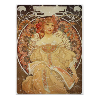 Mucha 2 - 1890 Distressed Poster