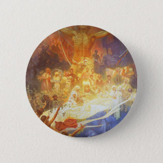 Mucha - Apotheosis of the Slavs 2 Inch Round Button