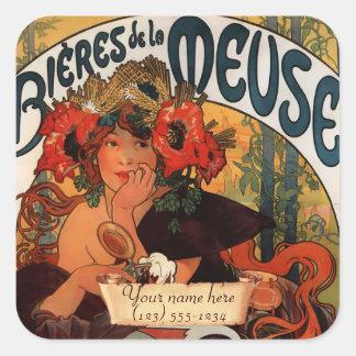 Mucha Art Nouveau  Bookplate Stickers