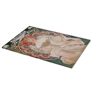 Mucha Art Nouveau Cutting Board