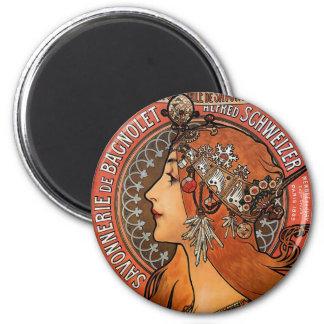 Mucha - Art Nouveau Magnet