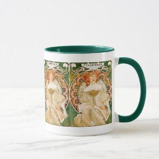 Mucha Art Nouveau Mug: Champenois Mug