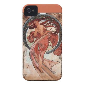 mucha dance woman art deco iPhone 4 cases