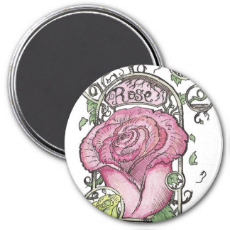 Mucha Inspired Rose Magnets