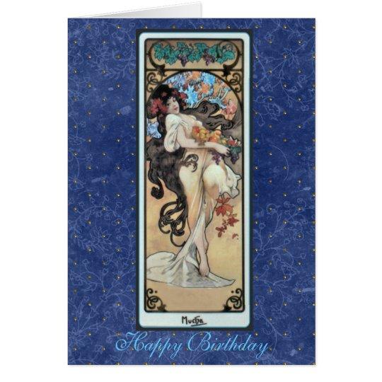 """Mucha ~ """"L'Amethyste"""" February BirthdayCard Card"""