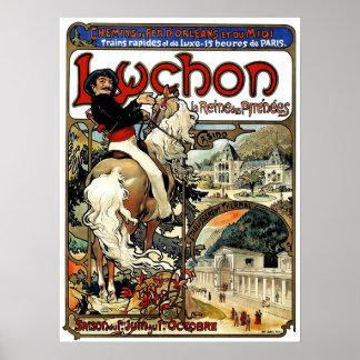 Mucha - Luchon - Art Nouveau -Casino Poster
