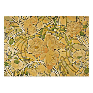 Mucha Peonies 1897 Large Business Card