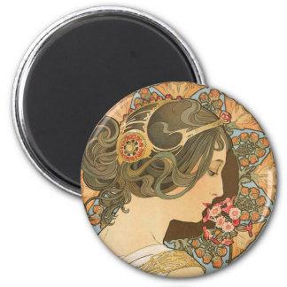 Mucha Primrose CC0639 Fridge art collection Magnet