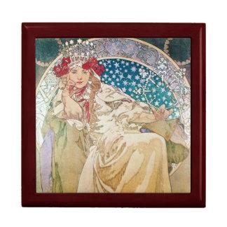 Mucha Princess Hyacinth Art Nouveau Gift Cache Box