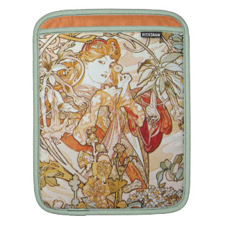 Mucha Woman with a Daisy Art Nouveau iPad Sleeve