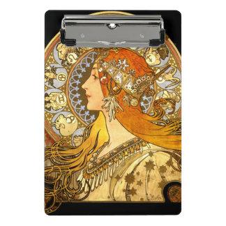 Mucha Zodiac Woman Mini Clipboard