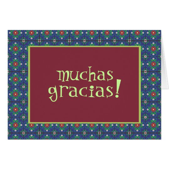 Muchas Gracias! Note Card