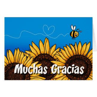 Muchas gracias (Spanish Thank you card) Card