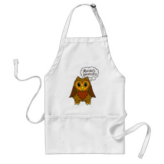 Muchos Backflips! Alfred the Owl Friend Apron
