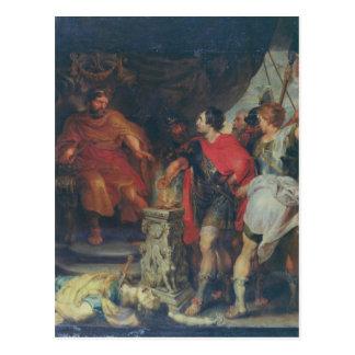 Mucius Scaevola before Lars Porsena, c.1618-20 Postcard