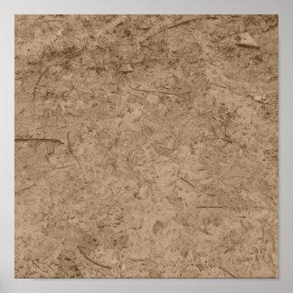 Mud. Brown Muddy Ground. Posters
