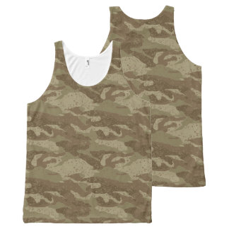 Mud camouflage All-Over-Print tank top