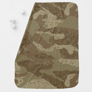 Mud camouflage baby blanket