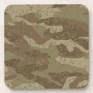 Mud camouflage beverage coaster