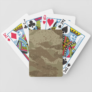 Mud camouflage bicycle playing cards