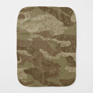 Mud camouflage burp cloth