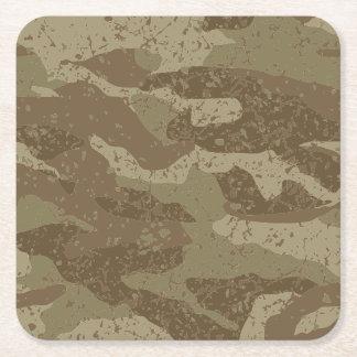 Mud camouflage square paper coaster