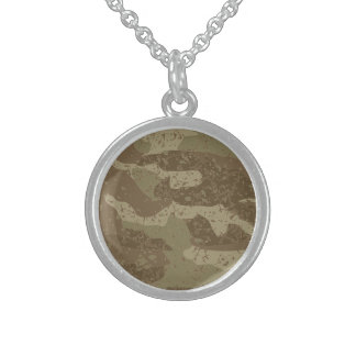 Mud camouflage sterling silver necklace