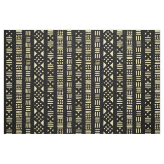 Mud Cloth Style Pattern 01 - Cream with Black