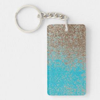 Mud Lover Brown Splash Aged Paint +Pick Your Color Double-Sided Rectangular Acrylic Keychain