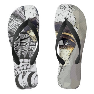 Mud man flop flops flip flops