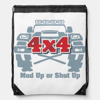 Mud Up or Shut Up 4x4 Off Road Drawstring Bag