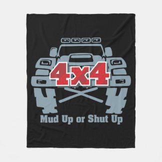Mud Up or Shut Up 4x4 Off Road Fleece Blanket